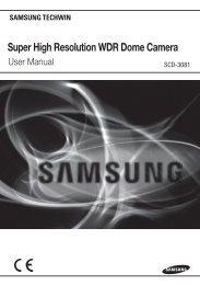 Super High Resolution WDR Dome Camera - Samsung CCTV