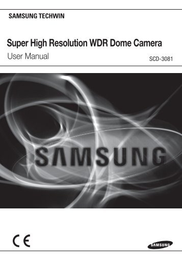 Super High Resolution WDR Dome Camera - Samsung CCTV