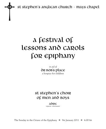 a festival of lessons and carols for epiphany - St Stephen's Anglican ...