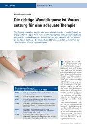 Die richtige Wunddiagnose ist Voraus - setzung für ... - Werner Sellmer