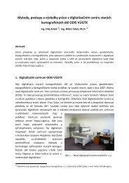 Metody, postupy a výsledky práce v digitalizačním centru ... - vúgtk