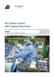 AO Trauma Courses with Cadaver Dissections - Österreichische ...