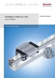 Guidages à billes sur rails - Bosch Rexroth