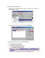 Cliente de correo Outlook Express - Desde el menú de ...