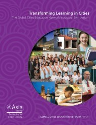Transforming Learning in Cities - Asia Society