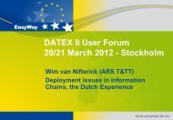 Deployment Issues in Information Chains, the Dutch Experience ...