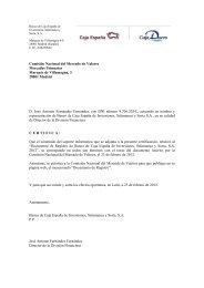 Comisión Nacional del Mercado de Valores Mercados Primarios ...