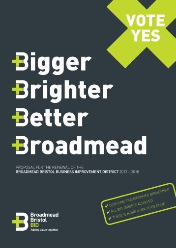 BID renewal prospectus - Bristol Shopping Quarter