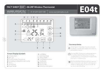 E04T E8.2RF Wireless Thermostat - WundaTrade