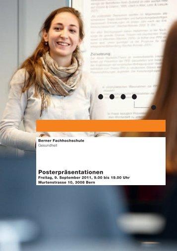 Posterpräsentationen - Gesundheit - Berner Fachhochschule