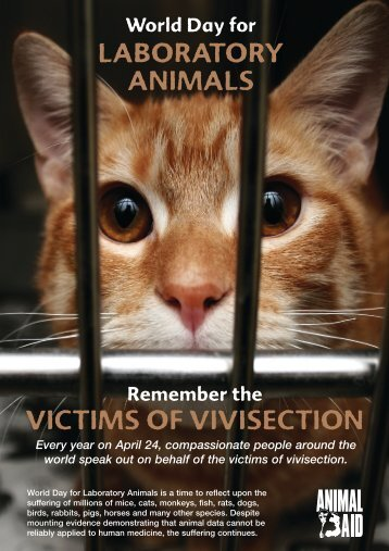 World Day for Animals in Laboratories leaflet - Animal Aid