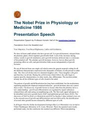 The Nobel Prize in Physiology or Medicine 1986 Presentation Speech