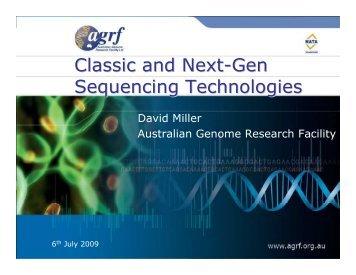 Classic and next-gen technologies (David Miller)
