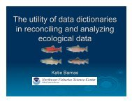 The Utility of Data Dictionaries in Reconciling and Analyzing Salmon ...