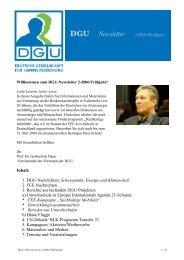 DGU News 2-06 - Deutsche Gesellschaft für Umwelterziehung
