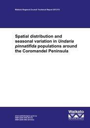 Spatial distribution and seasonal variation in Undaria pinnatifida ...