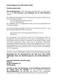 Hochschuleigenes Auswahlverfahren (AdH) - Veterinärmedizinische ...