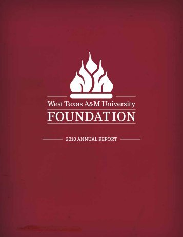 2010 ANNUAL REPORT - West Texas A&M University