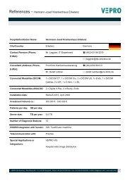 References – Hermann-Josef Krankenhaus Erkelenz - Vepro