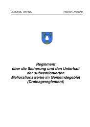 Reglement über die Sicherung und den Unterhalt der ... - Birrwil