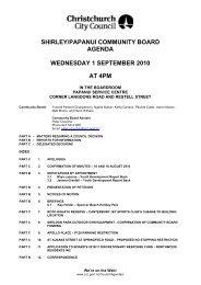 shirley/papanui community board agenda wednesday 1 september ...