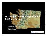 W hi t St t ' E F t Washington State's Energy ... - Solar Washington