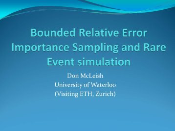 Intelligent importance sampling and rare event simulation