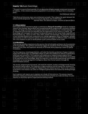 Inquiry 1A>Super:Assemblage