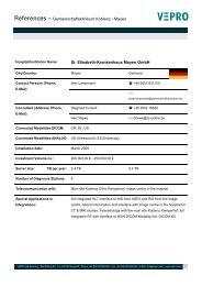 References – Gemeinschaftsklinikum Koblenz - Mayen St ... - Vepro
