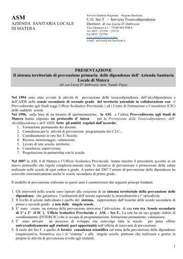 Lucia D'ambrosio - 5a Conferenza nazionale sulle droghe