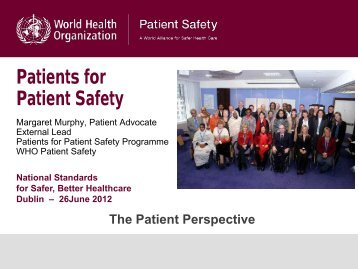 Patients for Patient Safety - hiqa.ie