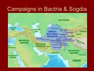Campaigns in Bactria & Sogdia