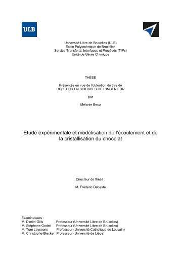 Étude expérimentale et modélisation de l'écoulement et de la ...