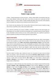– REcine 2008 – Bola na tela Futebol: magia e ... - Arquivo Nacional