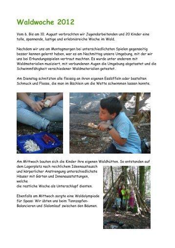 Waldwoche 2012 - Jugendarbeit Worb