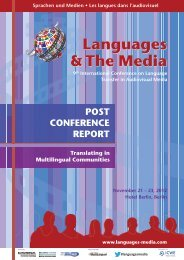Post-Conference Report 2012 (PDF) - Languages & The Media