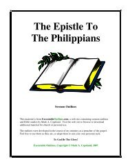 The Epistle To The Philippians - Executable Outlines