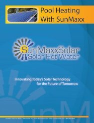 SunMaxx Solar Pool Heaters