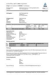 GUTACHTEN zur ABE Nr. 47509 nach §22 StVZO Anlage 7 ... - Motec