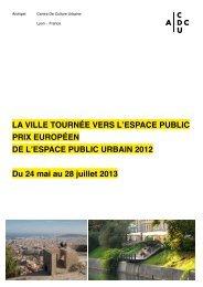 LA VILLE TOURNÉE VERS L'ESPACE PUBLIC PRIX ... - Public Space