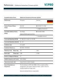 References – Städtisches Krankenhaus Pirmasens gGmbH - Vepro