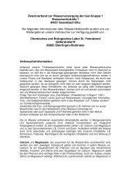 Zweckverband zur Wasserversorgung der Isar-Gruppe 1 ...