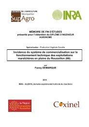 Mémoire CC Demarque - INRA Montpellier