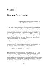Chapter 21 - Discrete factorization - ChaosBook