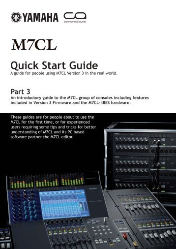 M7CL V3 Quick Start Guide Part3 - Yamaha Downloads