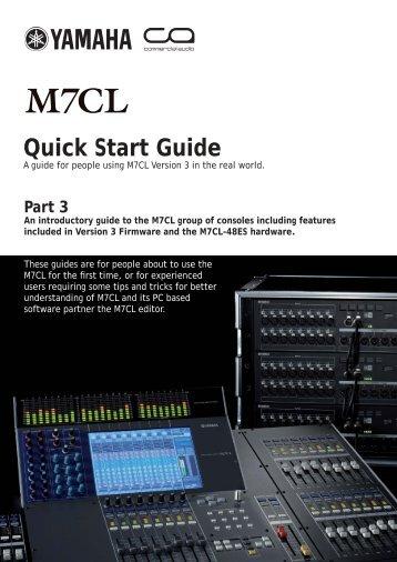 M7CL V3 Quick Start Guide Part3 - Yamaha Downloads
