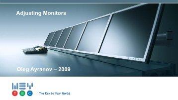 Adjusting Monitors