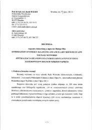 prof. dr hab. inż. Jacek Malko - Wydział Elektrotechniki, Elektroniki ...