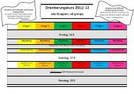 O-Kurs Programm 2011 - International
