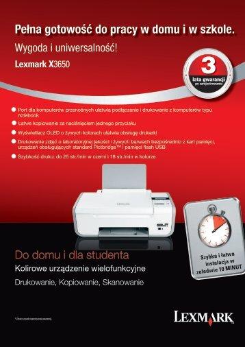 Broszura Produktowa Lexmark X3650 - Centrum Druku